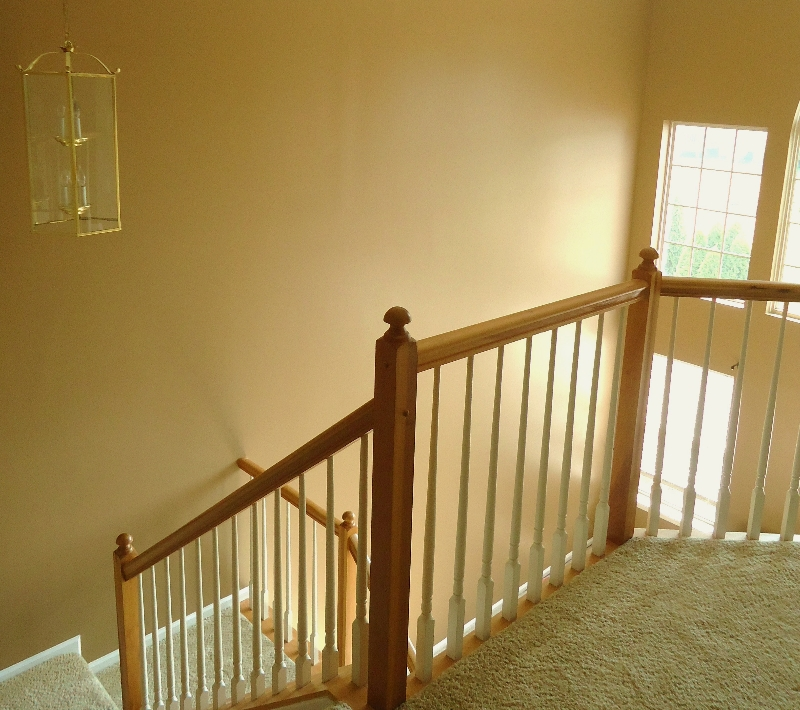 Story Foyer Pros And Cons : Two story open stairway
