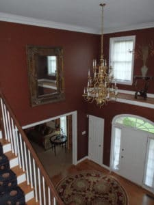 Brown Foyer - Interior Painting - Wayne PA
